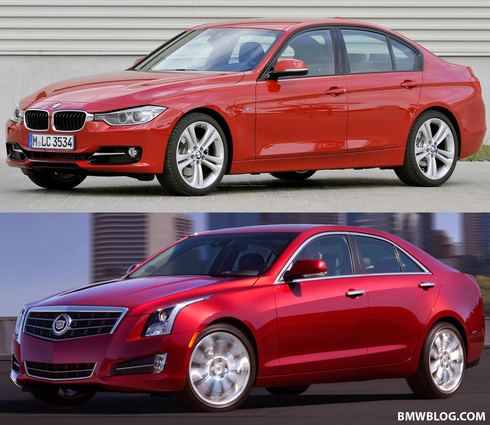 Photo Comparison: F30 BMW 3 Series vs. Cadillac ATS