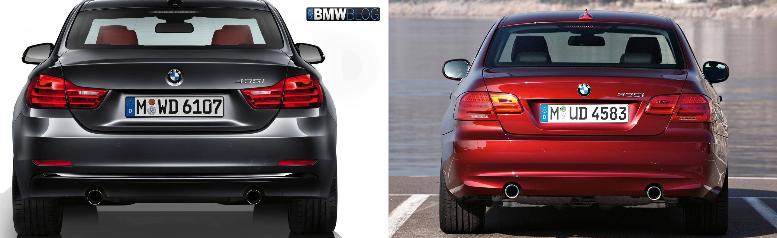 Bmw 4 Series Coupe Vs E92 3 Series Coupe Photo Comparison