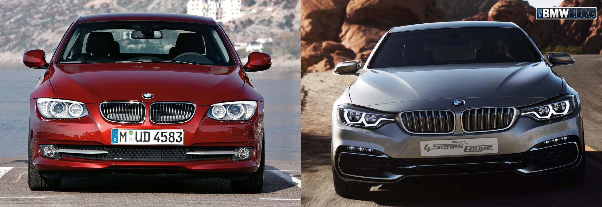 bmw 4 series vs bmw 3 series coupe photo