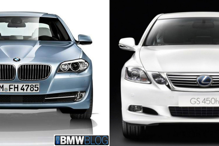 bmw 5 hybrid vs lexus 450h 750x500