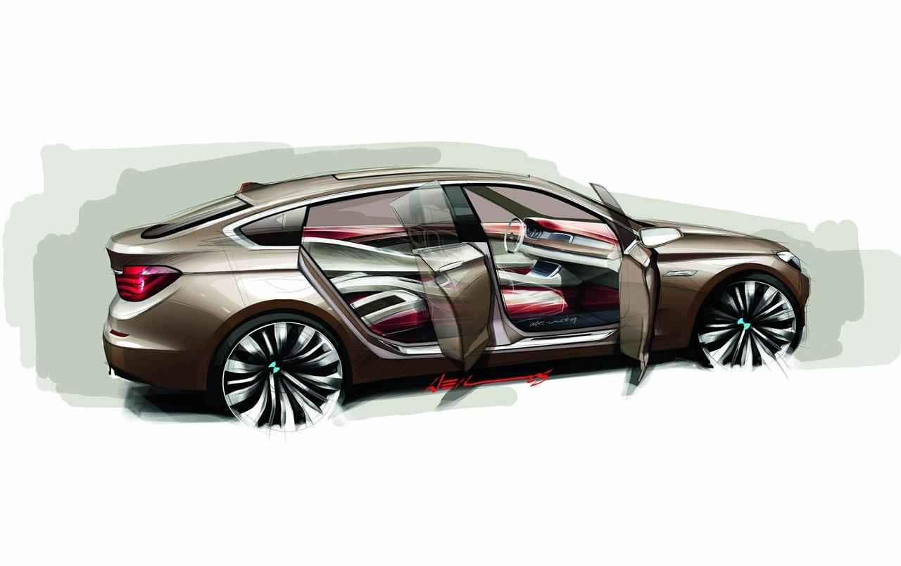 bmw 5 series gran turismo concept sketch img 2