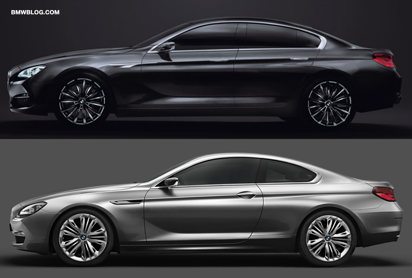 photo comparison bmw 6 series coupe vs bmw gran coupe. Black Bedroom Furniture Sets. Home Design Ideas