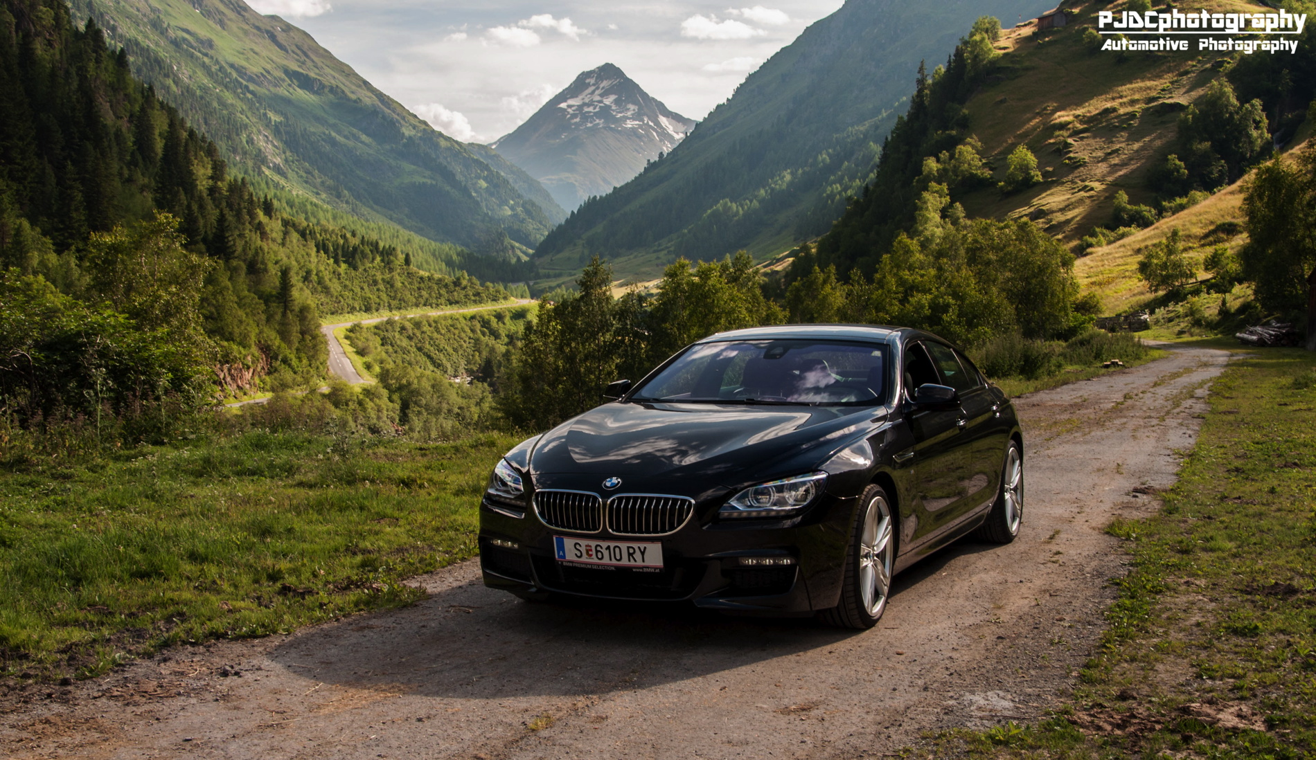 bmw 6 series gran coupe black images 02