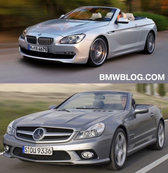 Photo Comparison: BMW 6 Series Cabrio Vs. Mercedes-Benz SL