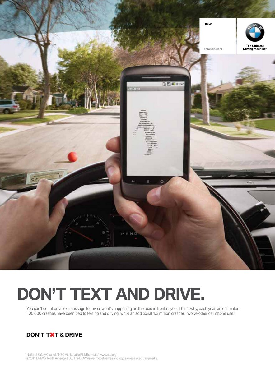 bmw dont text drive 1