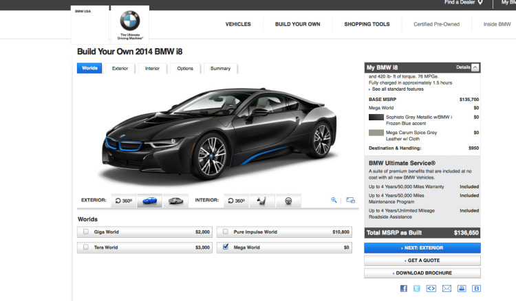 bmw i8 online configuration 750x438