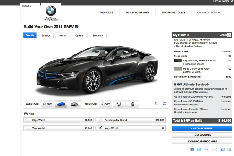 bmw i8 online configuration 750x500