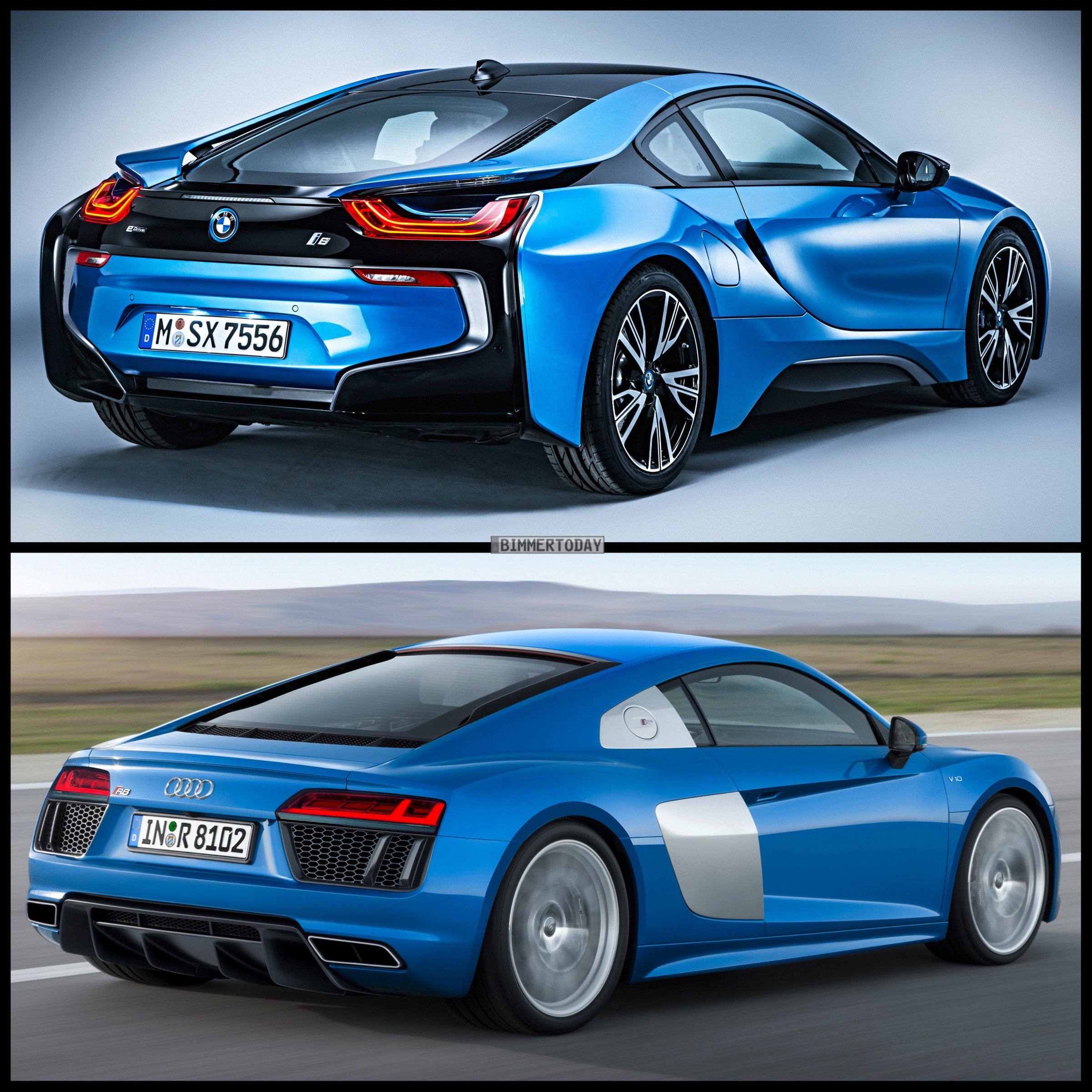 Photo Comparison 2015 Audi R8 Vs Bmw I8