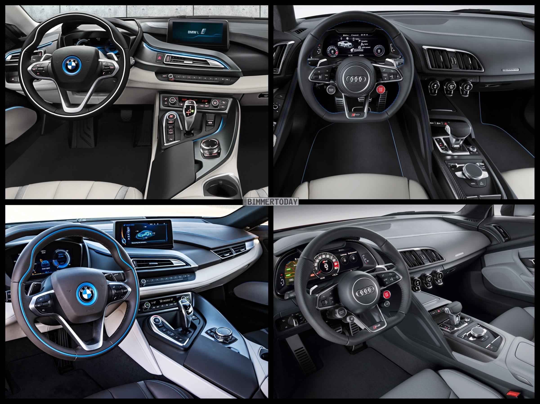 Photo Comparison 2015 Audi R8 Vs Bmw I8