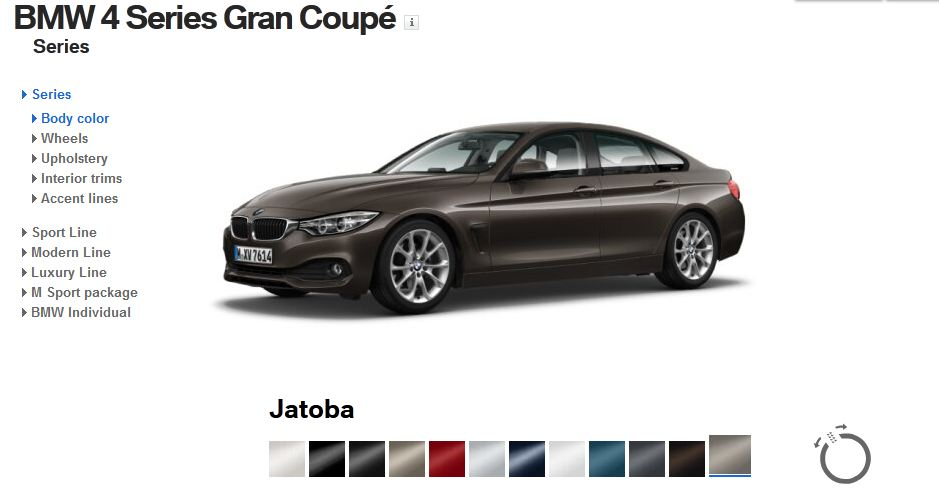 JR2 Painted Black Color for 2013-2018 BMW 4-Series 418 420 428 425 430 F36 Grand Coupe 4D Rear Window Roof Spoiler