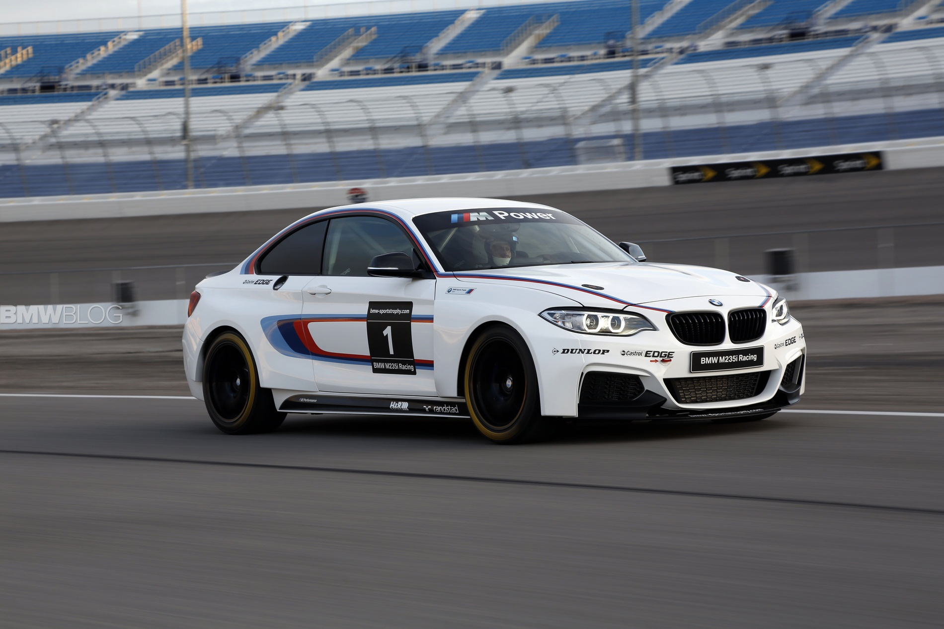 bmw m235i race car track 45