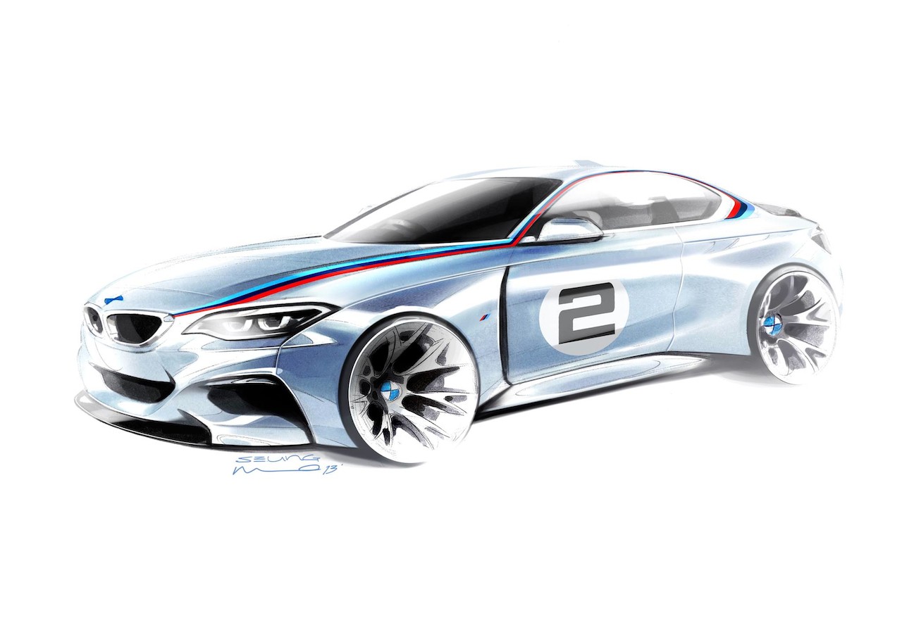 Official Sketch Bmw M235i Racing Car