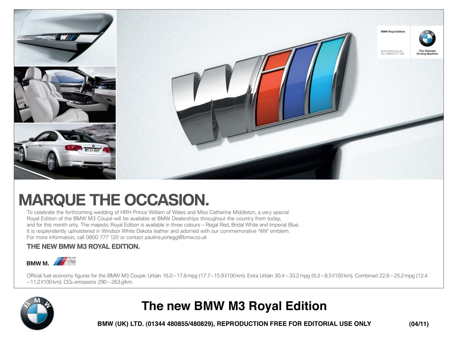 bmw m3 royal edition