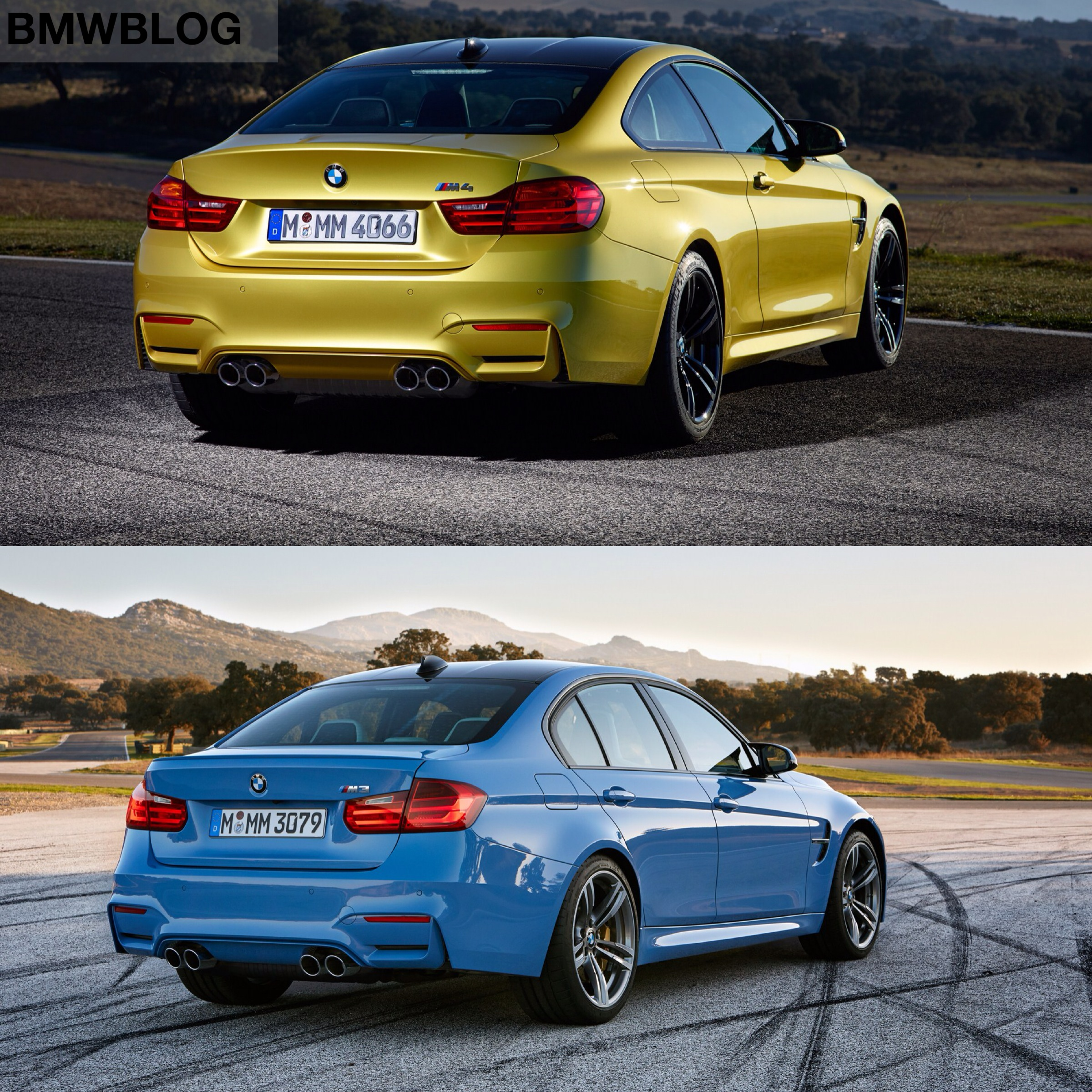 Bmw M3 Vs Bmw M4 Photo Comparison