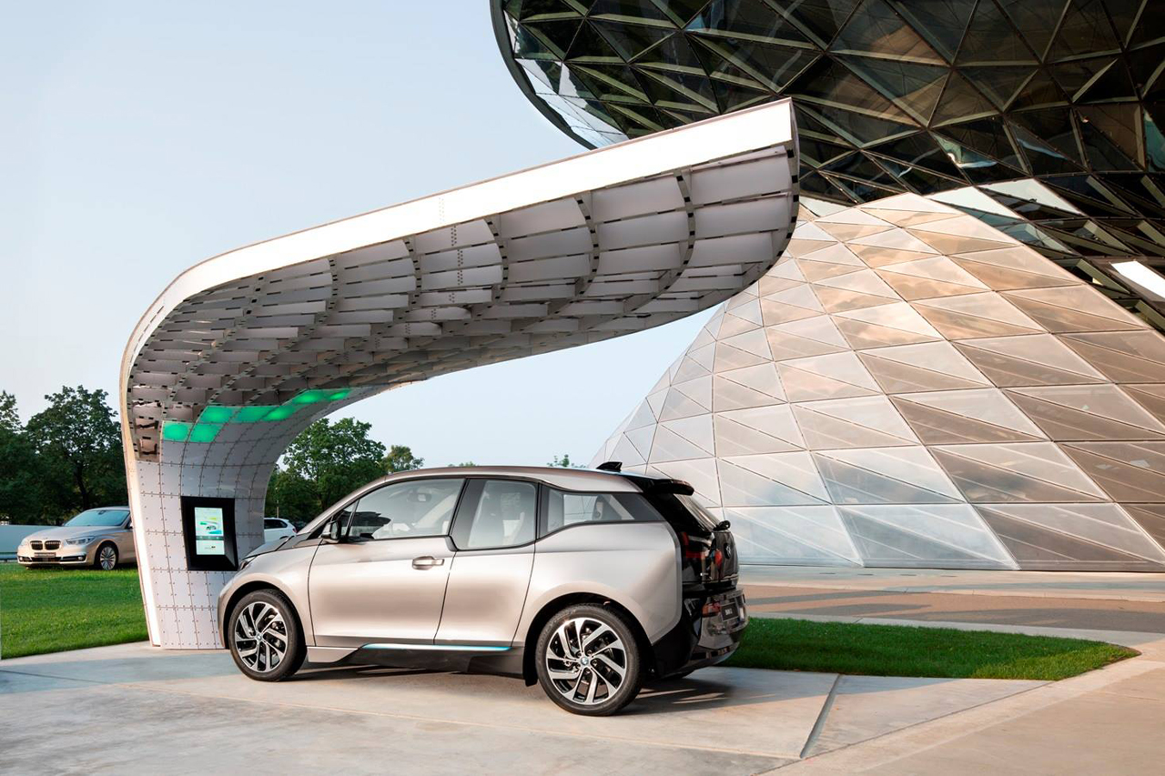 bmw welt point one solar charging station 0
