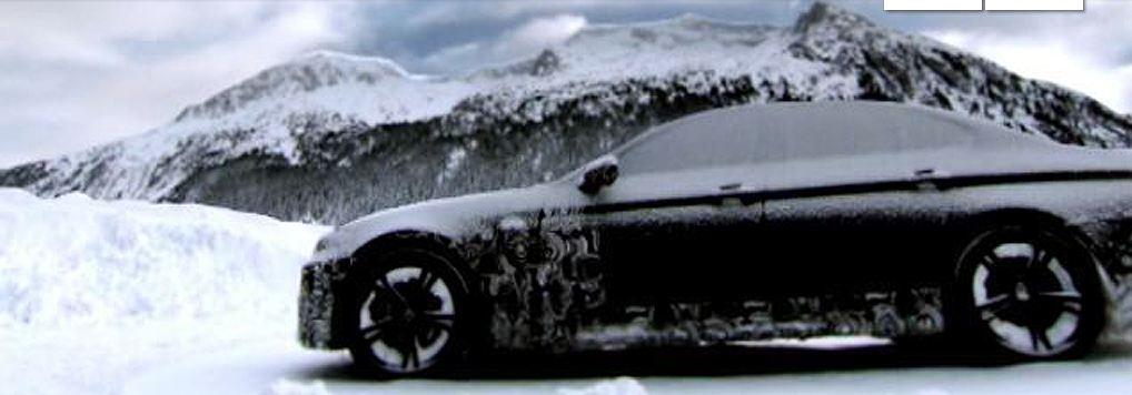 bmw winter test drive