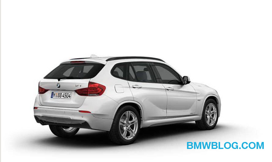exclusive first photos bmw x1 with m sport package. Black Bedroom Furniture Sets. Home Design Ideas