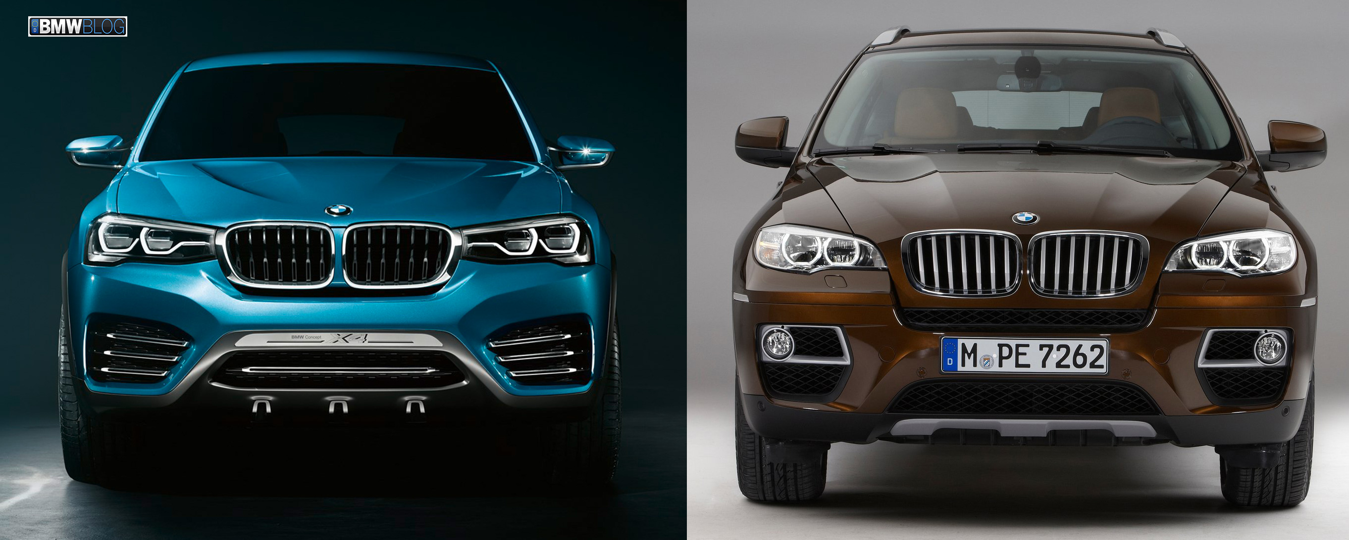 Photo Comparison Bmw X4 Vs Bmw X6