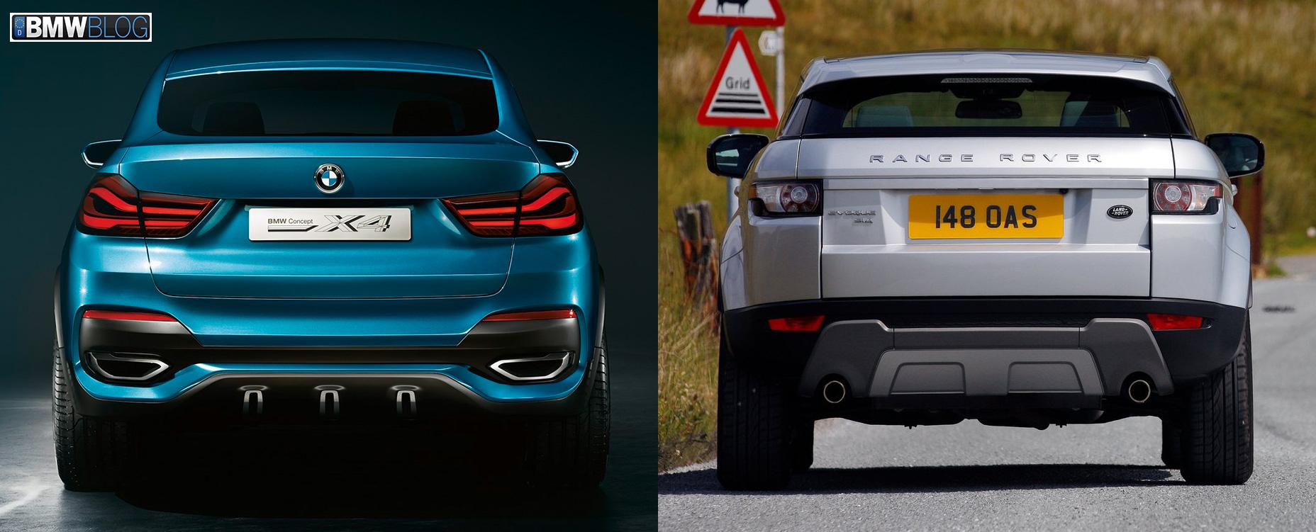 Bmw X4 Vs Range Rover Evoque Photo Comparison