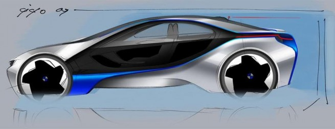 bmw vison concept side view drawing 655x252