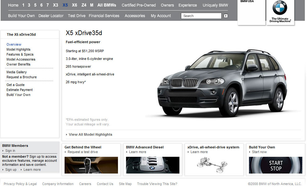 Bmw X5d And 335d Online Configurator Available
