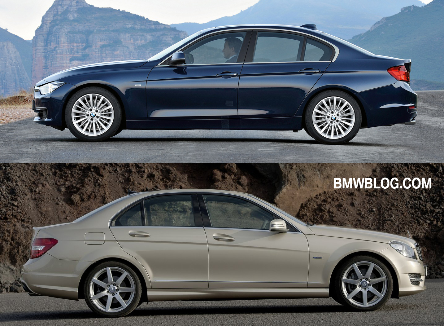 Photo Comparison 2012 Bmw 3 Series Vs 2012 Mercedes Benz C Class