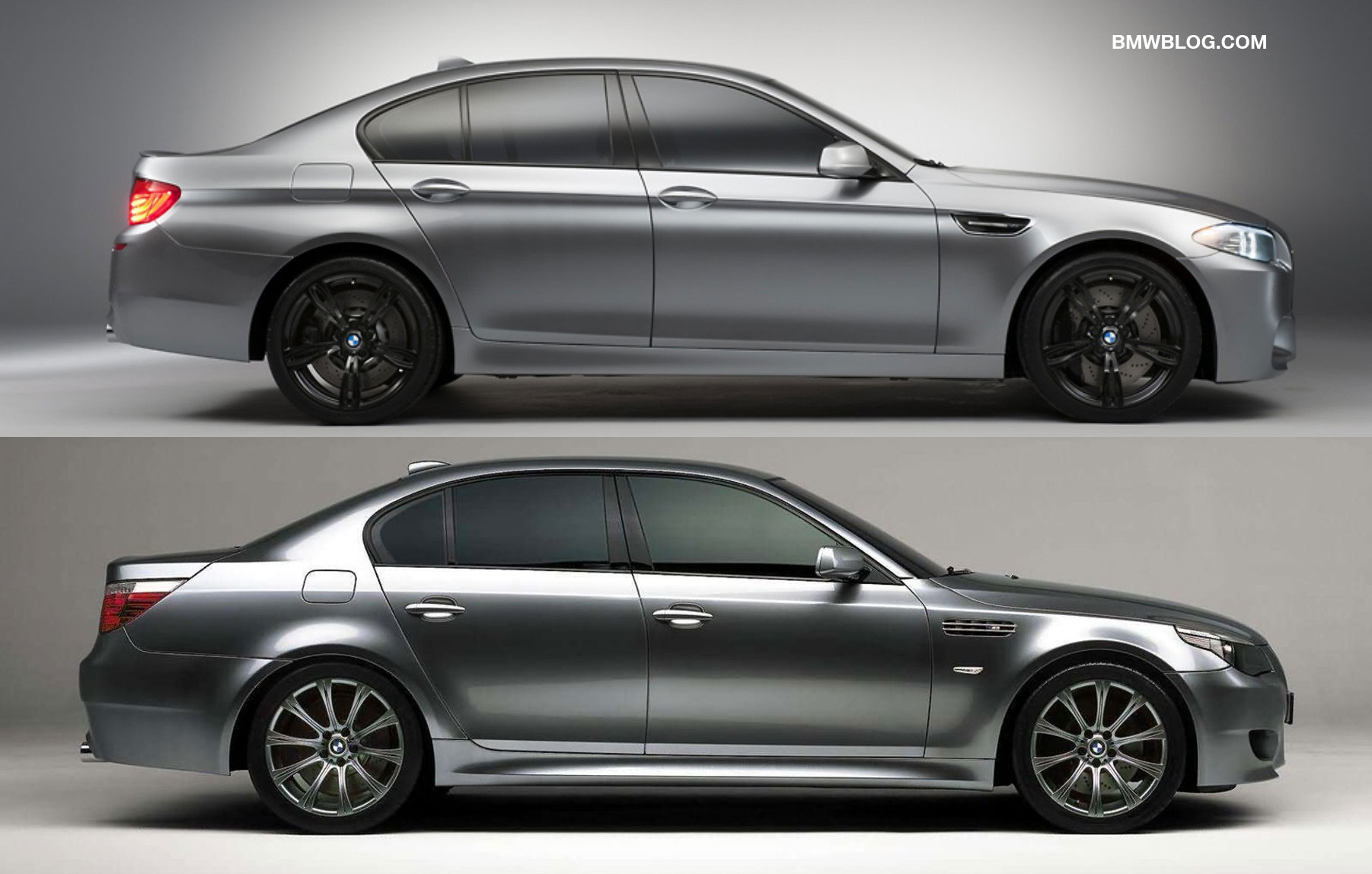 photo comparison bmw e60 m5 concept vs f10 m5 concept. Black Bedroom Furniture Sets. Home Design Ideas