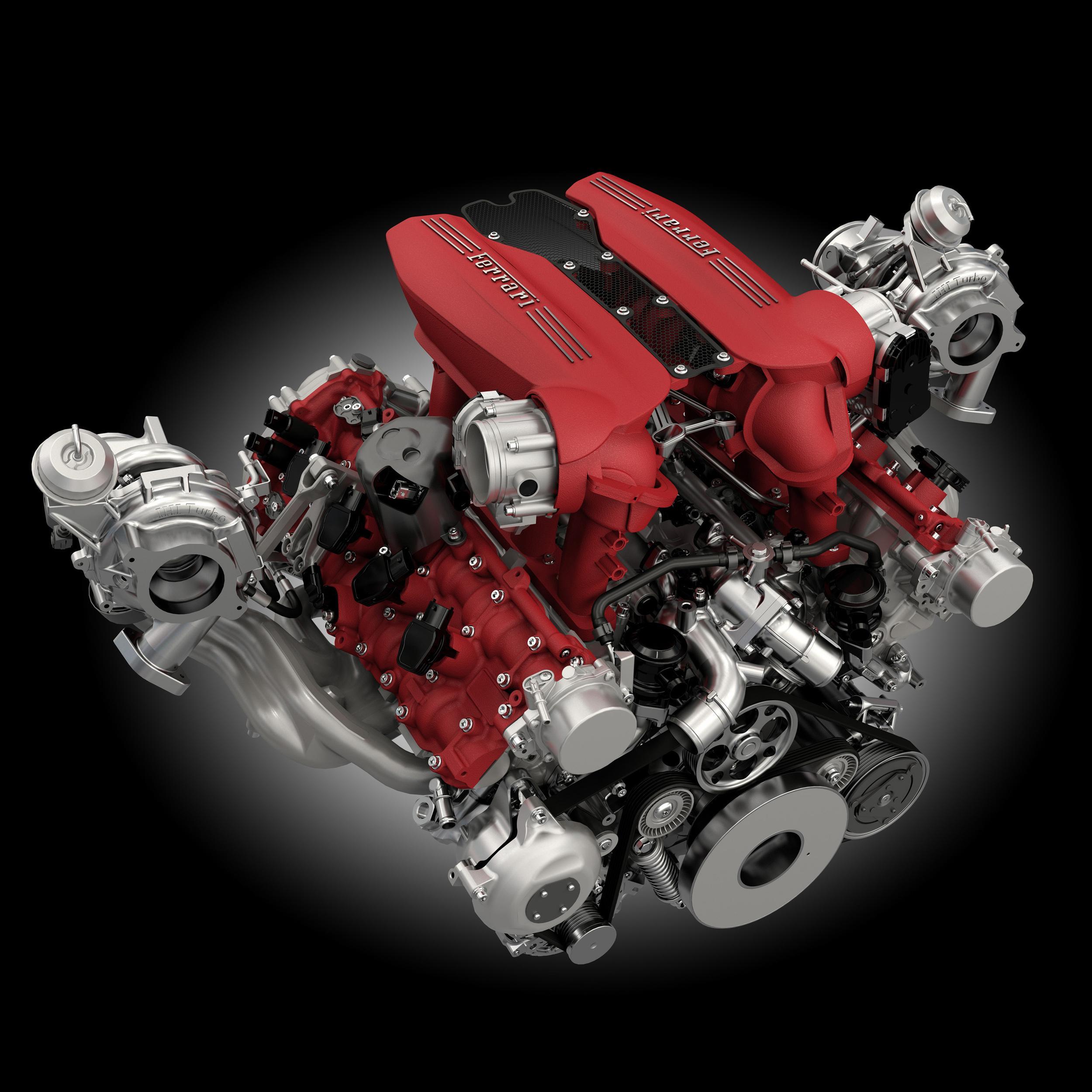 ferrari 488 gtb engine image