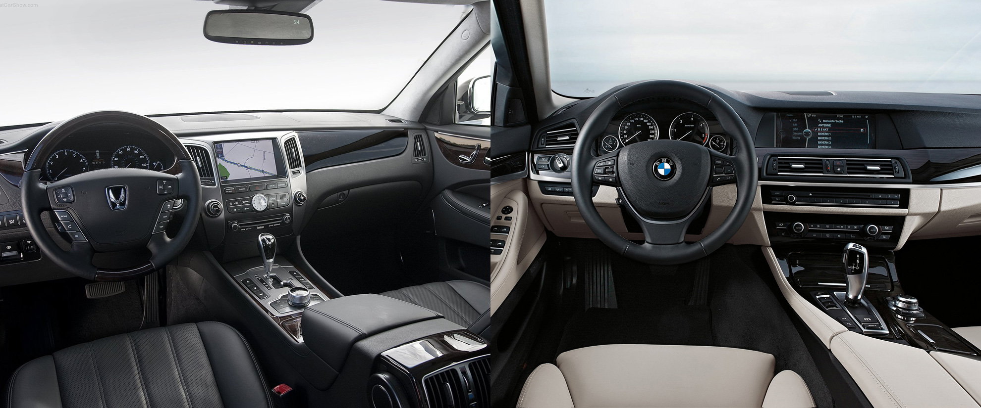 hyundai equus vs bmw 7 series interior