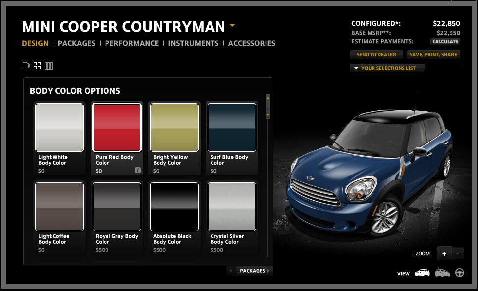 mini countryman configurator