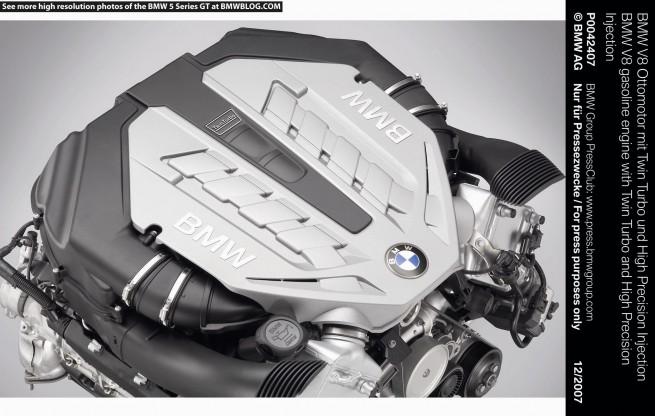 BMW V8 twin turbo 550i GT