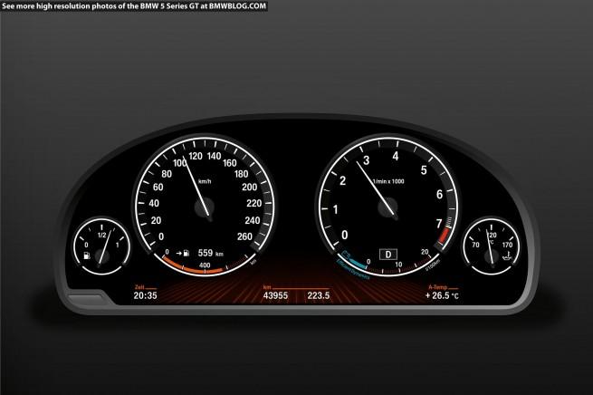 BMW 5 Series Gran Turismo dashboard