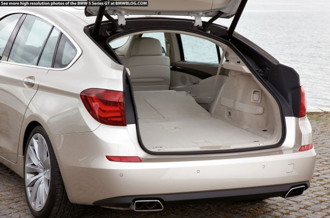 BMW 5 Series Gran Turismo folded seats