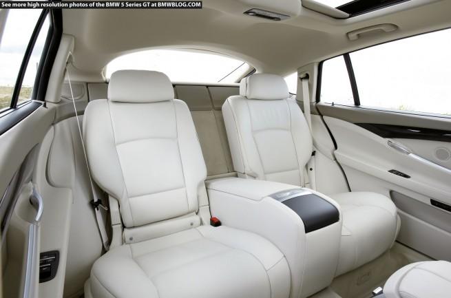 BMW 5 Series Gran Turismo rear seats