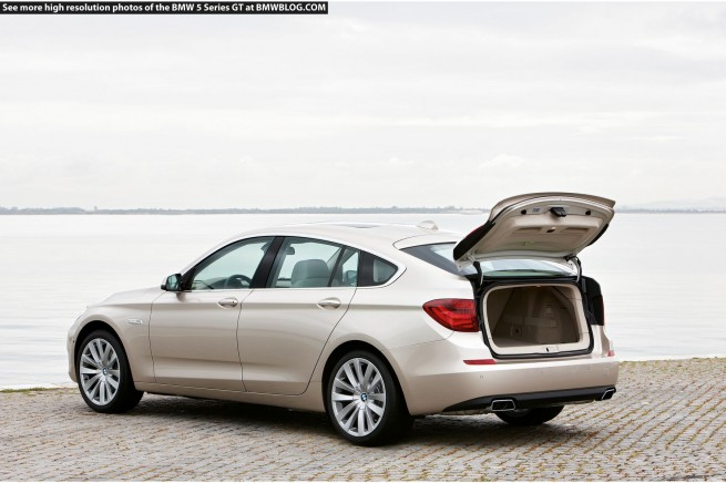 BMW 5 Series Gran Turismo trunk
