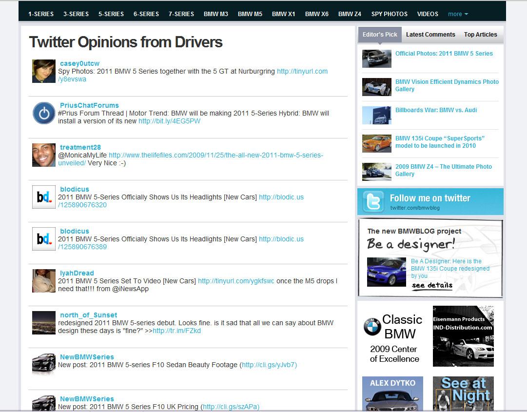 twitter car content